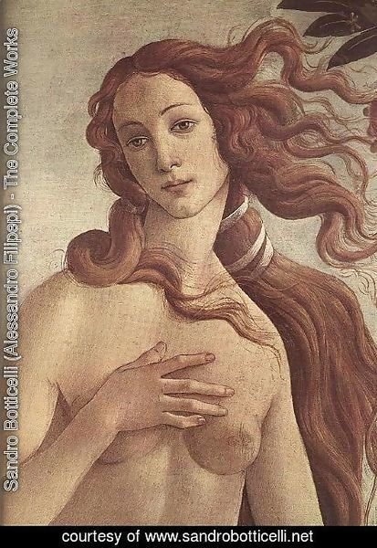 Sandro Botticelli (Alessandro Filipepi) - The birth of Venus [detail]