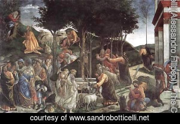 Sandro Botticelli (Alessandro Filipepi) - Scenes from the Life of Moses