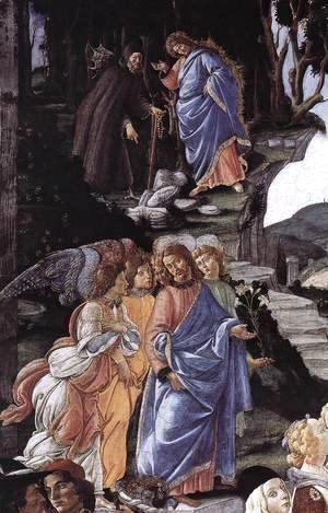 Sandro Botticelli (Alessandro Filipepi) - The Temptation of Christ [detail: 1]