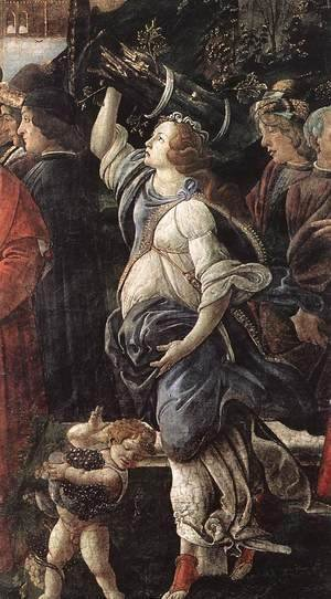 Sandro Botticelli (Alessandro Filipepi) - The Temptation of Christ [detail: 4]