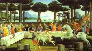 Sandro Botticelli (Alessandro Filipepi) - The Banquet in the Pine Forest