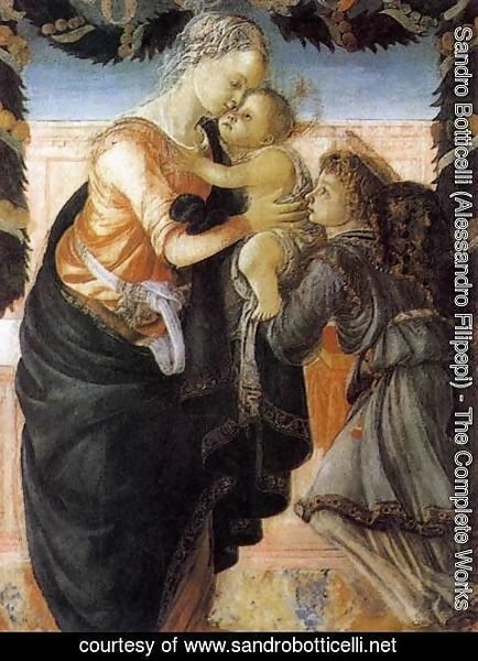Sandro Botticelli (Alessandro Filipepi) - Madonna and Child with an Angel 2
