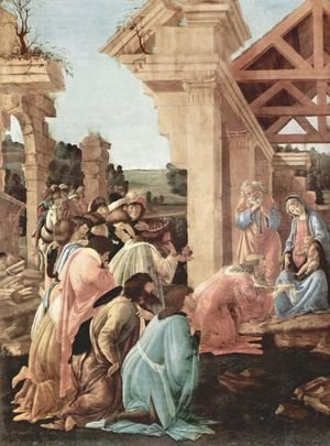 Sandro Botticelli (Alessandro Filipepi) - Adoration of the Magi (detail 1)