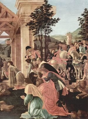 Sandro Botticelli (Alessandro Filipepi) - Adoration of the Magi (detail 2)