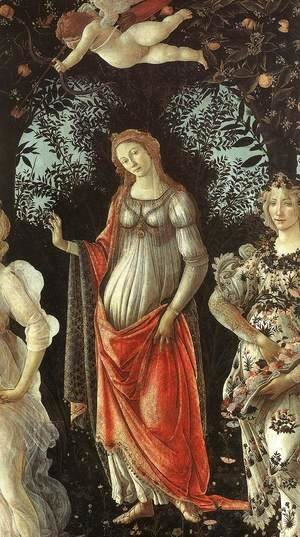 Sandro Botticelli (Alessandro Filipepi) - The Spring (detail 2)