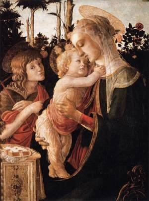Sandro Botticelli (Alessandro Filipepi) - Virgin and Child with Young St John the Baptist