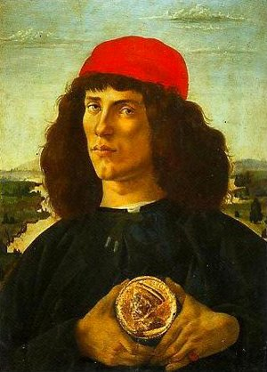 Sandro Botticelli (Alessandro Filipepi) - Portrait of a Young Man with a Medallion