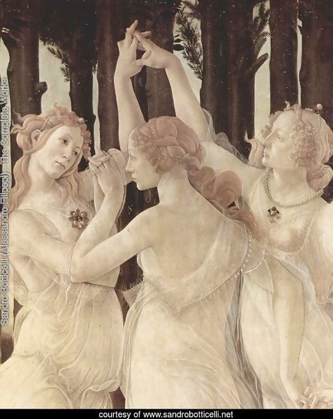 Spring (Primavera), Detail Three Graces