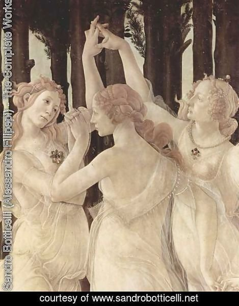 Sandro Botticelli (Alessandro Filipepi) - Spring (Primavera), Detail Three Graces