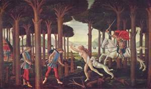 Sandro Botticelli (Alessandro Filipepi) - Series of four paintings to Boccaccio