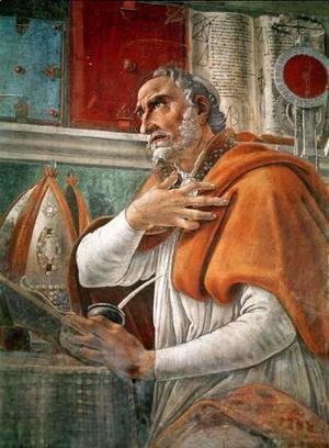 Sandro Botticelli (Alessandro Filipepi) - St. Augustine's prayer in contemplation