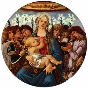 Sandro Botticelli (Alessandro Filipepi) - Madonna with Child and Singing Angels