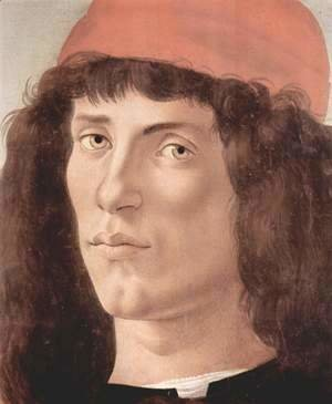 Sandro Botticelli (Alessandro Filipepi) - Portrait of a young man with red cap 2