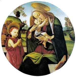 Sandro Botticelli (Alessandro Filipepi) - Virgin and Child with the Infant St. John the Baptistbetween