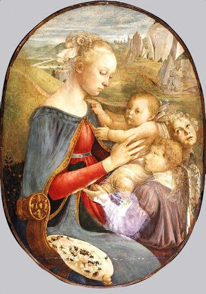 Sandro Botticelli (Alessandro Filipepi) - Madonna and Child with Two Angels 2