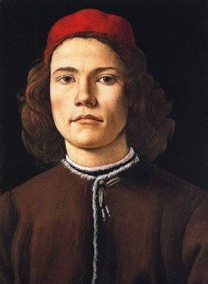 Sandro Botticelli (Alessandro Filipepi) - Portrait of a Young Man c. 1483