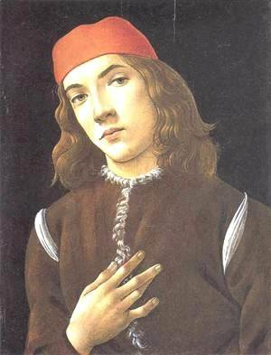 Sandro Botticelli (Alessandro Filipepi) - Portrait of a Young Man 1482-83