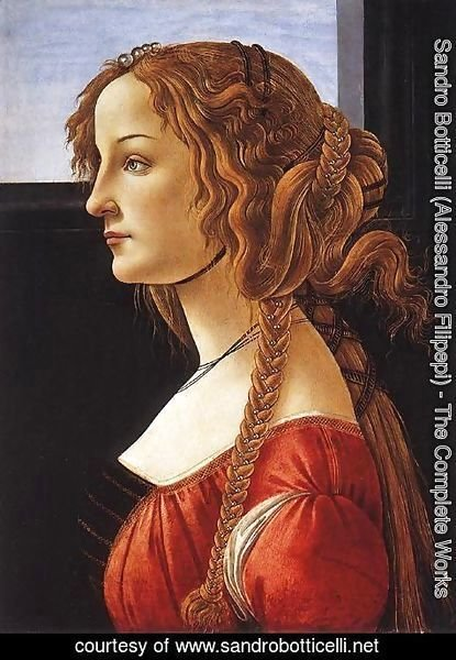 Sandro Botticelli (Alessandro Filipepi) - Portrait of a Young Woman, after 1480