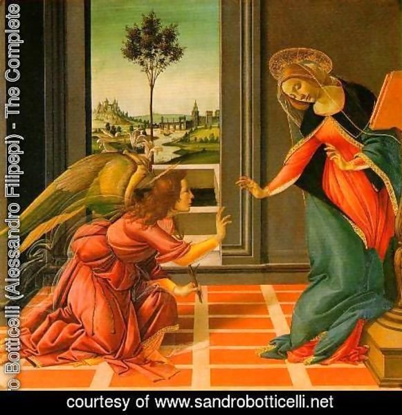 Sandro Botticelli (Alessandro Filipepi) - The Cestello Annunciation