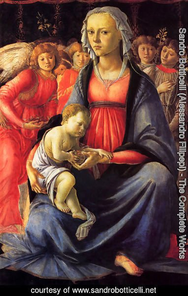 Sandro Botticelli (Alessandro Filipepi) - The Virgin And Child With Five Angels