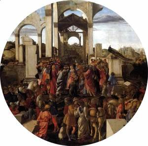 Sandro Botticelli (Alessandro Filipepi) - Adoration of the Magi 1470-75
