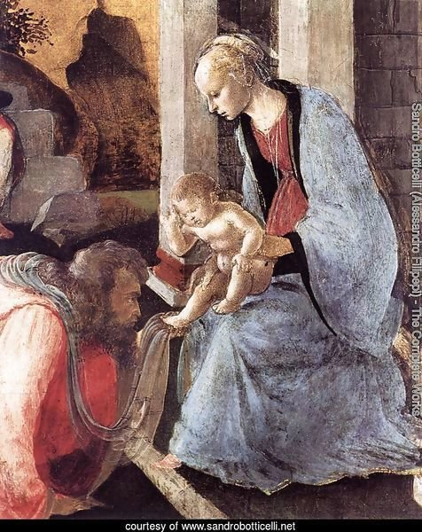 Adoration of the Magi (detail 2) 1465-67