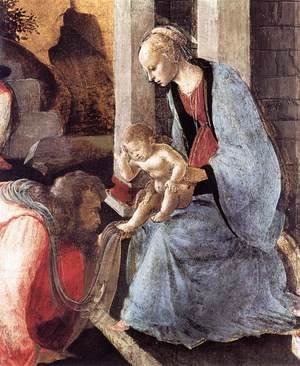 Sandro Botticelli (Alessandro Filipepi) - Adoration of the Magi (detail 2) 1465-67