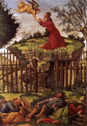 Sandro Botticelli (Alessandro Filipepi) - Agony in the Garden c. 1500