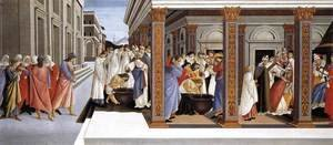 Sandro Botticelli (Alessandro Filipepi) - Baptism of St Zenobius and His Appointment as Bishop 1500-05