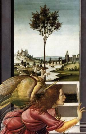 Sandro Botticelli (Alessandro Filipepi) - Cestello Annunciation (detail 1), 1489-90