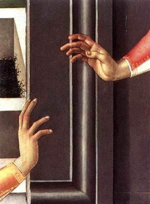 Sandro Botticelli (Alessandro Filipepi) - Cestello Annunciation (detail 2)