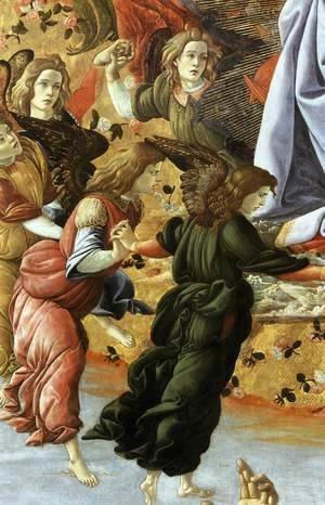 Sandro Botticelli (Alessandro Filipepi) - Coronation of the Virgin (detail 2) 1490-92