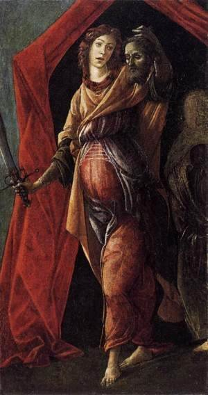 Sandro Botticelli (Alessandro Filipepi) - Judith Leaving the Tent of Holofernes 1495-1500
