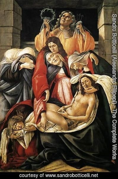 Sandro Botticelli (Alessandro Filipepi) - Lamentation over the Dead Christ c. 1495