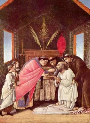 Sandro Botticelli (Alessandro Filipepi) - Last Communion of St Jerome c. 1495