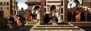 Sandro Botticelli (Alessandro Filipepi) - Last Miracle and the Death of St Zenobius 1500-05