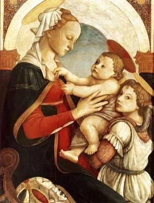 Sandro Botticelli (Alessandro Filipepi) - Madonna and Child with an Angel 1465-67