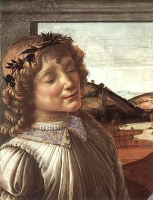 Sandro Botticelli (Alessandro Filipepi) - Madonna and Child with an Angel (detail) c. 1470