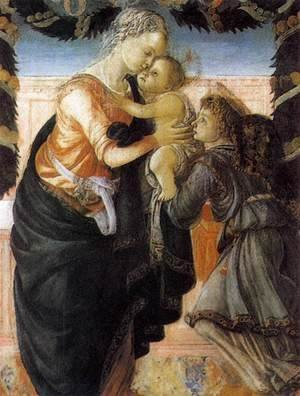 Sandro Botticelli (Alessandro Filipepi) - Madonna and Child with an Angel 1465-67 2