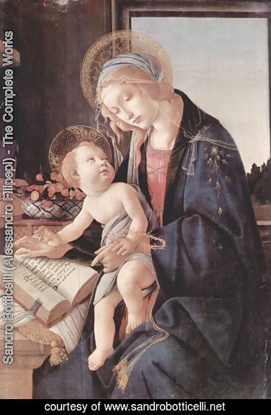 Sandro Botticelli (Alessandro Filipepi) - Madonna of the Book (Madonna del Libro) c. 1483