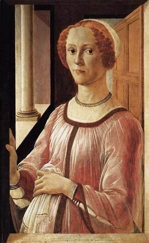 Sandro Botticelli (Alessandro Filipepi) - Portrait of a Lady 1470-75