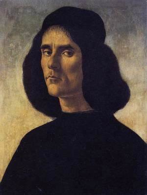 Sandro Botticelli (Alessandro Filipepi) - Portrait of a Man c. 1490