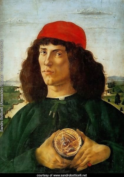 Portrait of a Man with a Medal of Cosimo the Elder c. 1474