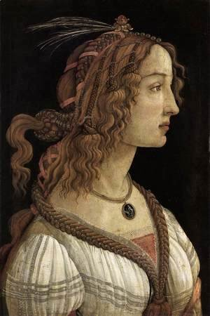 Sandro Botticelli (Alessandro Filipepi) - Portrait of a Young Woman 1480-85