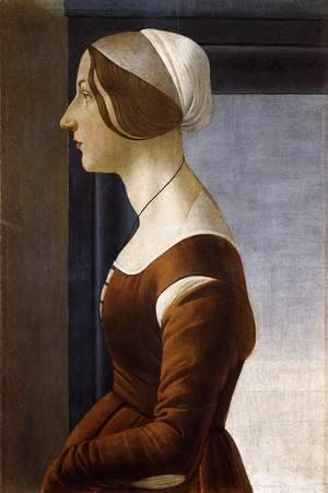 Sandro Botticelli (Alessandro Filipepi) - Portrait of a Young Woman c. 1475