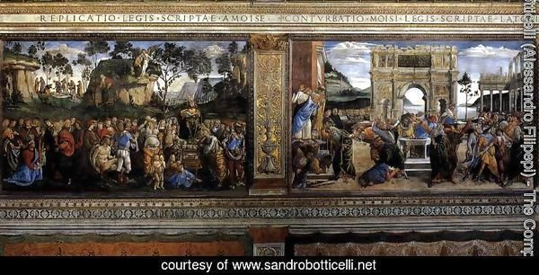 Scenes on the left wall 1481-82