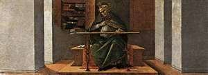Sandro Botticelli (Alessandro Filipepi) - St Augustine in His Cell 1490-92
