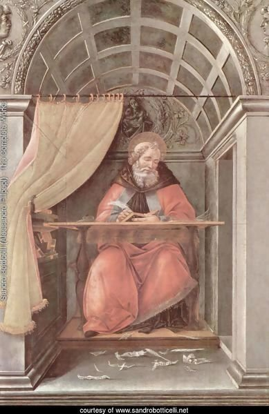 St Augustine in His Cell 1490-94
