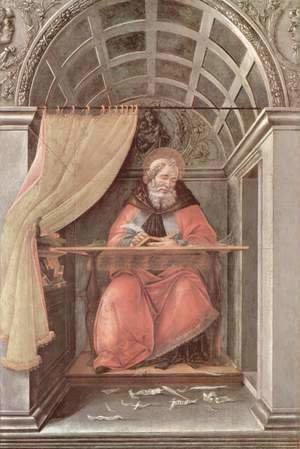 Sandro Botticelli (Alessandro Filipepi) - St Augustine in His Cell 1490-94