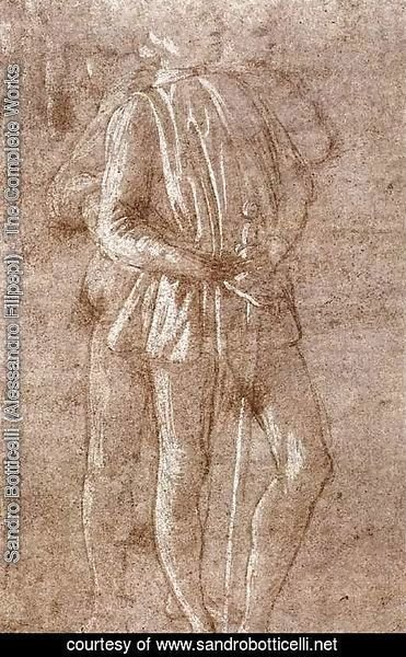 Sandro Botticelli (Alessandro Filipepi) - Study of two standing figures c. 1475